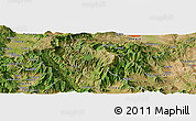 Satellite Panoramic Map of Dolna Banjica