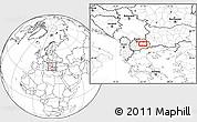 Blank Location Map of Češinovo