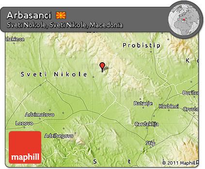 Physical Map of Arbasanci