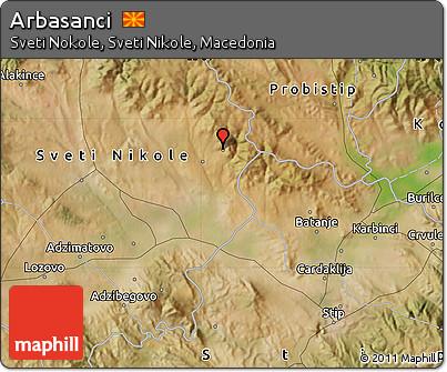 Satellite Map of Arbasanci