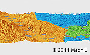 """Political Panoramic Map of the area around 41°43'14""""N,23°52'30""""E"""