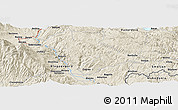 """Shaded Relief Panoramic Map of the area around 41°43'14""""N,23°52'30""""E"""