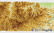 """Physical 3D Map of the area around 41°43'14""""N,24°43'30""""E"""
