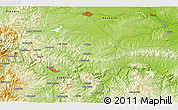 """Physical 3D Map of the area around 41°43'14""""N,25°34'30""""E"""
