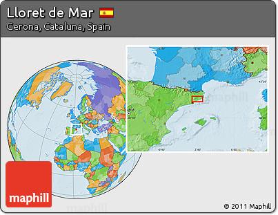 Free Political Location Map of Lloret De Mar