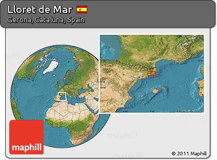 Free Satellite Location Map of Lloret De Mar
