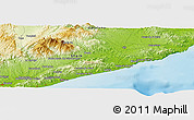 """Physical Panoramic Map of the area around 41°43'14""""N,2°37'30""""E"""