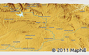 """Physical 3D Map of the area around 41°43'14""""N,2°28'30""""W"""
