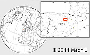 """Blank Location Map of the area around 41°43'14""""N,2°28'30""""W"""