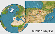 """Satellite Location Map of the area around 41°43'14""""N,2°28'30""""W"""