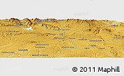 """Physical Panoramic Map of the area around 41°43'14""""N,2°28'30""""W"""