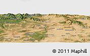 Satellite Panoramic Map of Vinuesa