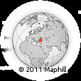 Outline Map of Pınarbaşı, rectangular outline