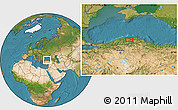 """Satellite Location Map of the area around 41°43'14""""N,34°4'30""""E"""