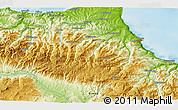"""Physical 3D Map of the area around 41°43'14""""N,34°55'29""""E"""