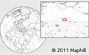 Blank Location Map of Acısu