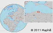 Gray Location Map of Acısu