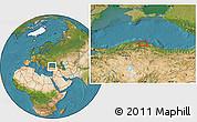 Satellite Location Map of Acısu