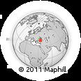 Outline Map of Acısu, rectangular outline