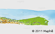 """Physical Panoramic Map of the area around 41°43'14""""N,35°46'29""""E"""