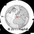 Outline Map of Palamós, rectangular outline