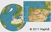 Satellite Location Map of Valladolid