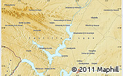 """Physical Map of the area around 41°43'14""""N,5°52'30""""W"""
