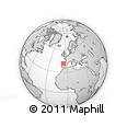 """Outline Map of the Area around 41° 43' 14"""" N, 5° 52' 30"""" W, rectangular outline"""