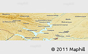 """Physical Panoramic Map of the area around 41°43'14""""N,5°52'30""""W"""