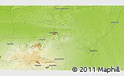 Physical 3D Map of Mullalykuduk