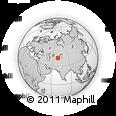 Outline Map of Yusufhona, rectangular outline