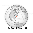 Outline Map of Marstons Mills, rectangular outline