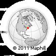 Outline Map of Wickford, rectangular outline