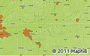 """Physical Map of the area around 41°43'14""""N,85°46'30""""W"""