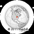 Outline Map of East 7th Street, rectangular outline