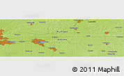 """Physical Panoramic Map of the area around 41°43'14""""N,85°46'30""""W"""