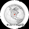 Outline Map of Monroe, rectangular outline