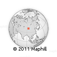 Outline Map of Malianjing, rectangular outline