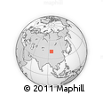 Outline Map of Yemadaquan, rectangular outline