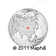 """Outline Map of the Area around 41° 43' 14"""" N, 97° 49' 29"""" E, rectangular outline"""