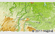Physical 3D Map of Mole Creek