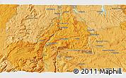 Political 3D Map of Mole Creek