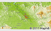 """Physical 3D Map of the area around 41°25'39""""S,147°7'30""""E"""