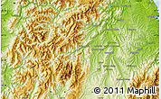 """Physical Map of the area around 41°25'39""""S,172°37'30""""E"""