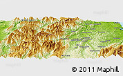 """Physical Panoramic Map of the area around 41°25'39""""S,172°37'30""""E"""