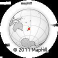 Outline Map of Cook Strait, rectangular outline