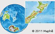 Physical Location Map of Pahautea