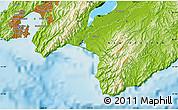 Physical Map of Kahutara