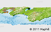 Physical Panoramic Map of Pahautea