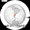 Outline Map of Sierra Grande, rectangular outline
